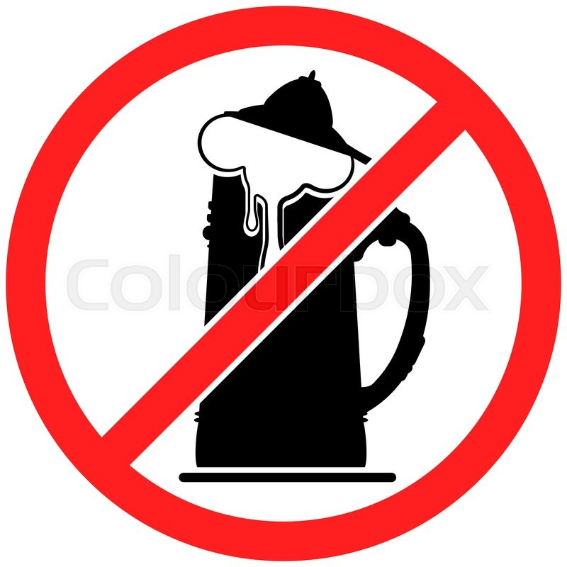 prohibition sign icon no beer vector illustration with