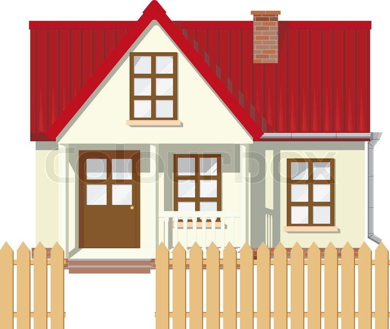 Kleine mansion l ndlichen haus mit rotem dach von einem for Modernes haus mit rotem dach