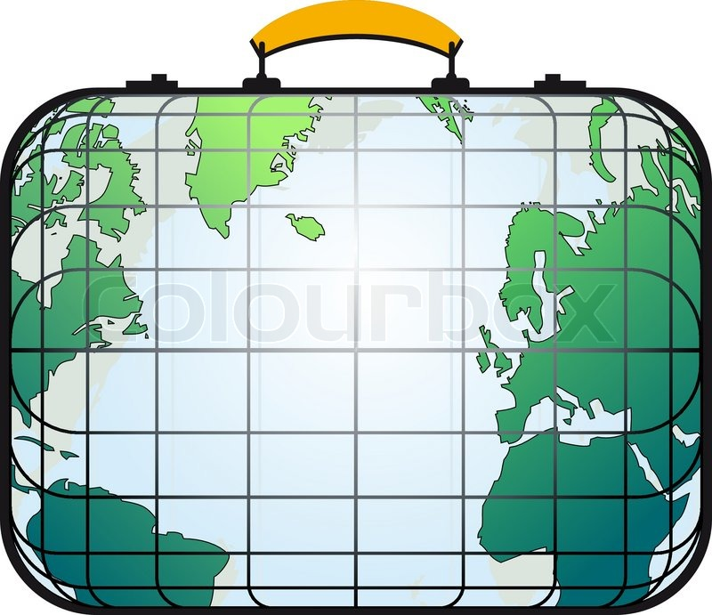 Travelers suitcase view like the world map stock vector colourbox gumiabroncs Image collections