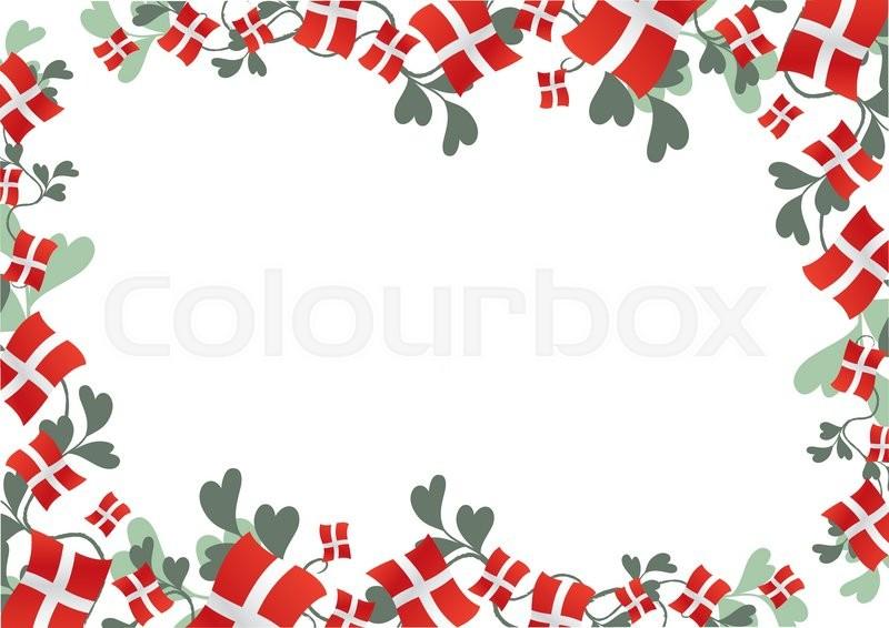 Baggrund med fødselsdagsflag og ... | Stock vektor | Colourbox