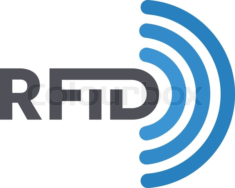 Vector Rfid Tag Icon Or Logo Radio Frequency Identification Symbol