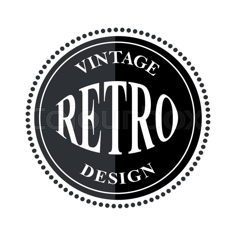 Retro Vintage Logo Template Vector Stock Vector Colourbox