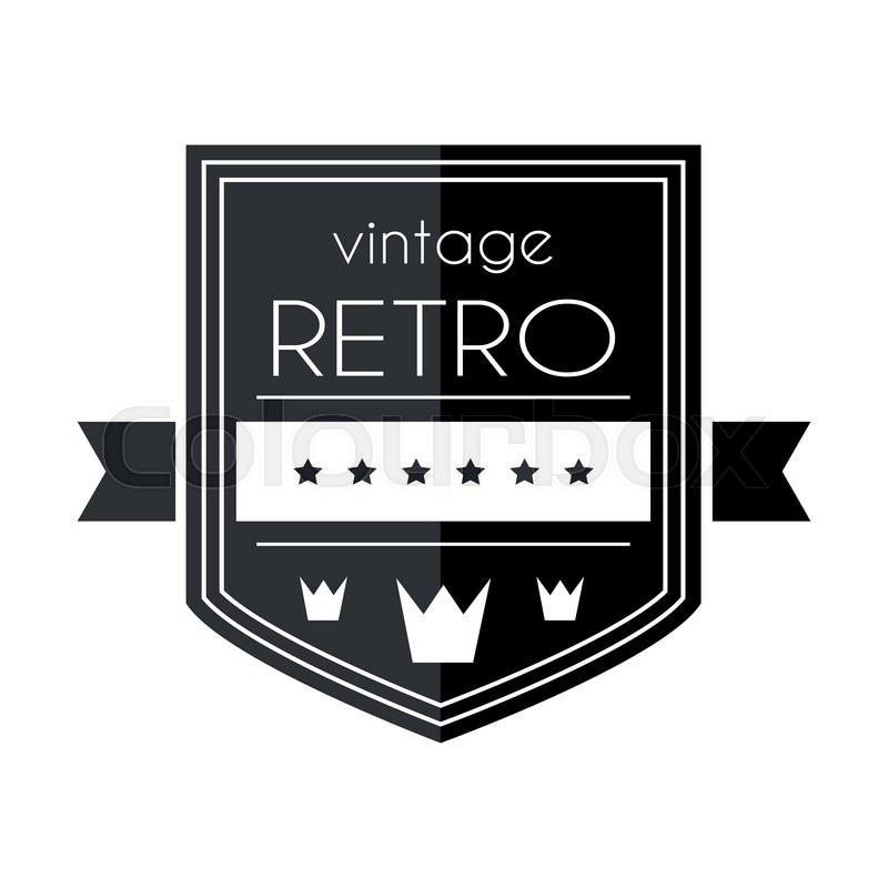 retro vintage logo template vector design element business sign