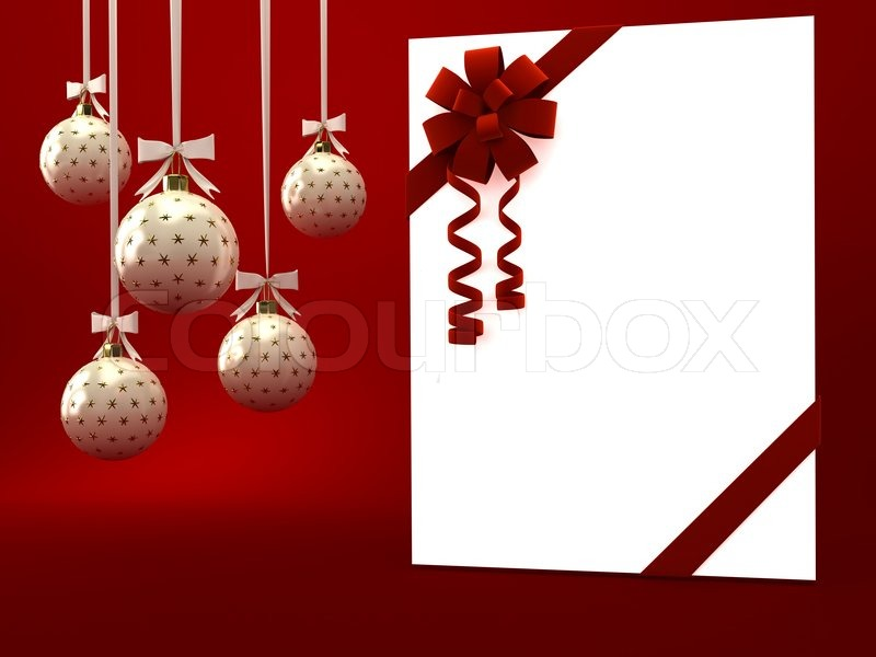 Greeting card with ribbon over red 3d render stock photo colourbox m4hsunfo