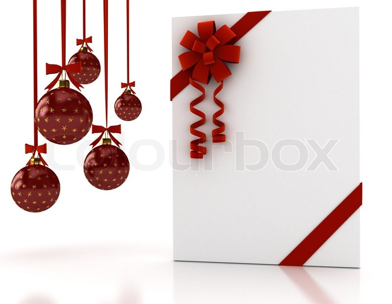 Greeting card with ribbon over white 3d render stock photo greeting card with ribbon over white 3d render stock photo colourbox m4hsunfo