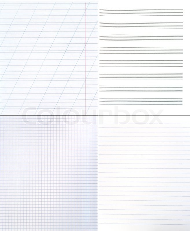 Wallpaper Lined Paper: Collection Of Different Paper Backgrounds (blank Lined And