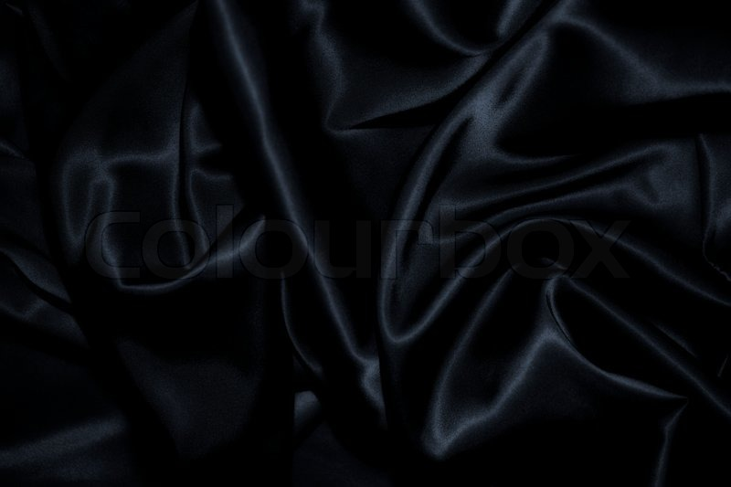 Texture Of A Black Silk Close Up Stock Photo Colourbox