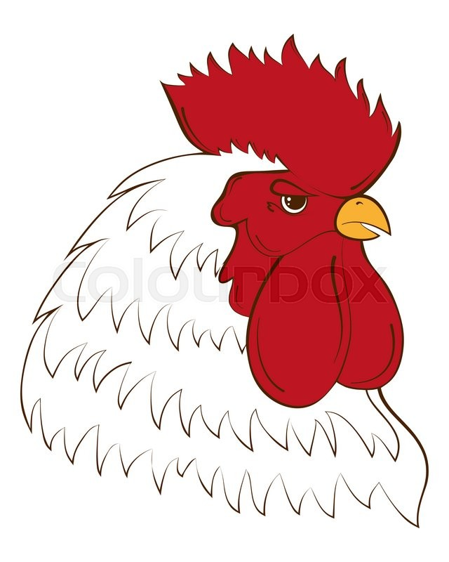 Rooster Head Chinese Calendar Year Of Rooster 2017 Cock Symbol Of