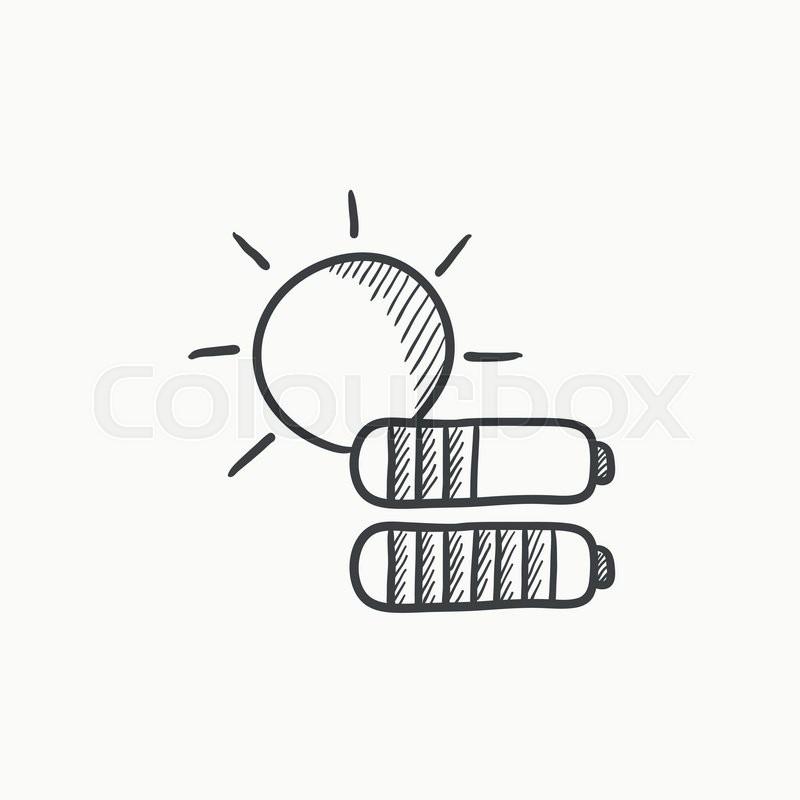 Solar energy vector sketch icon     | Stock vector | Colourbox