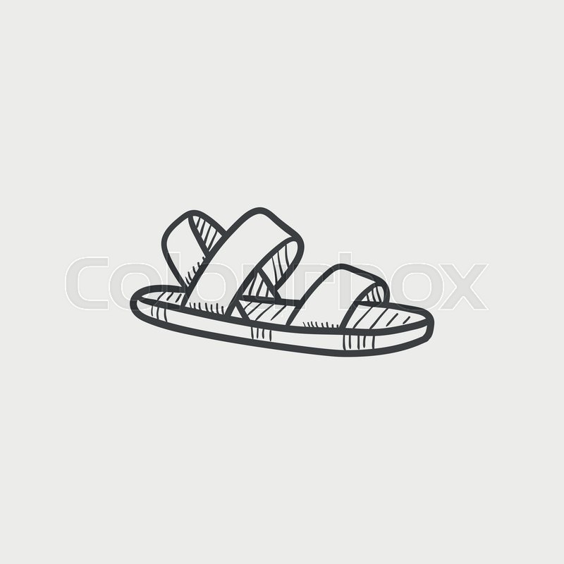 Isolated Sandal Vector Icon Colourbox Sketch OnStock bf6gy7