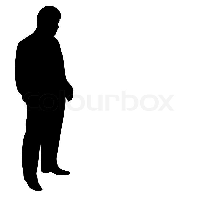 Black Outline Of A Man Vector of 'outline, person,
