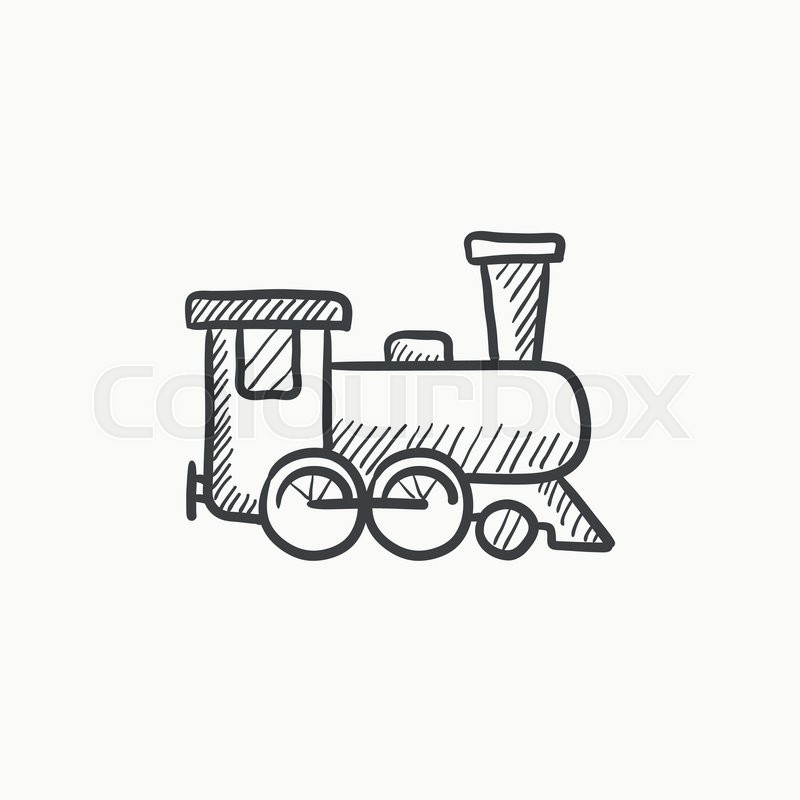 Train vector sketch icon isolated on     | Stock vector