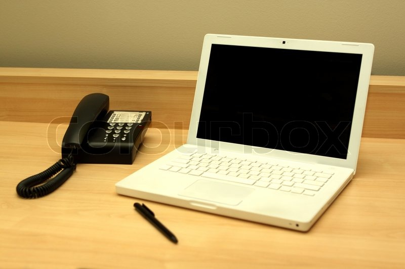 items for office desk. An Office Desk With Items In A Work Place Scene   Stock Photo Colourbox For O