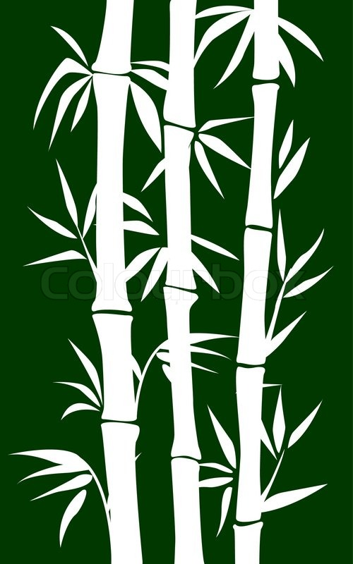 Abstract bamboo tree. black background vector illustration | Vector ...