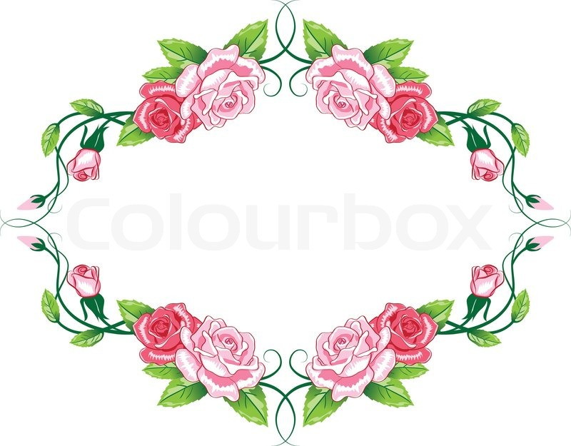 Greeting floral rose card vector color illustration stock vector greeting floral rose card vector color illustration stock vector colourbox m4hsunfo