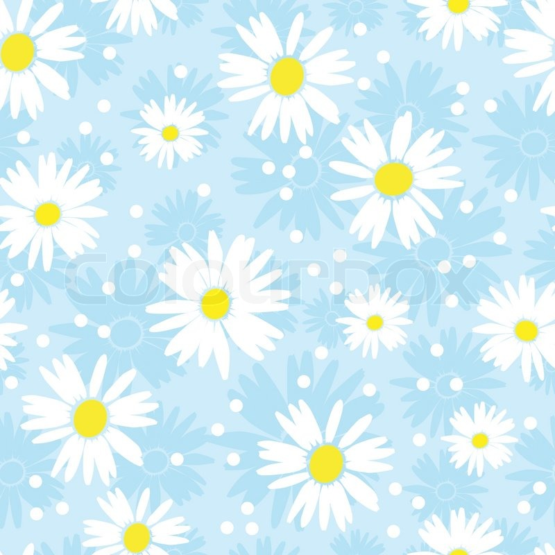 Cute Backgrounds: Seamless Cute Camomile Background. ...