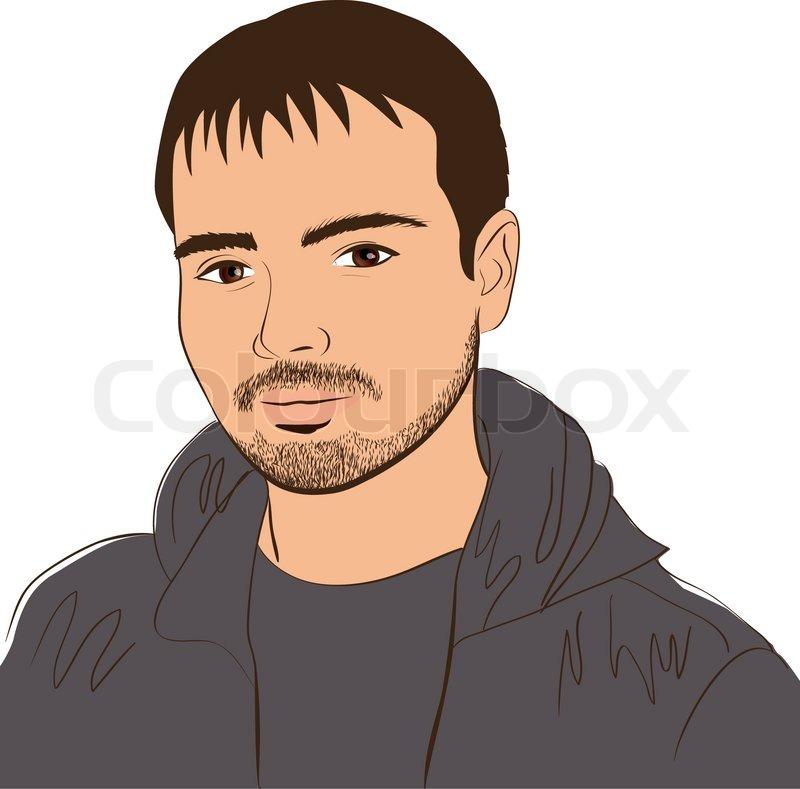vector face man design element colorful illustration stock vector rh colourbox com vector facelift vector facebook like