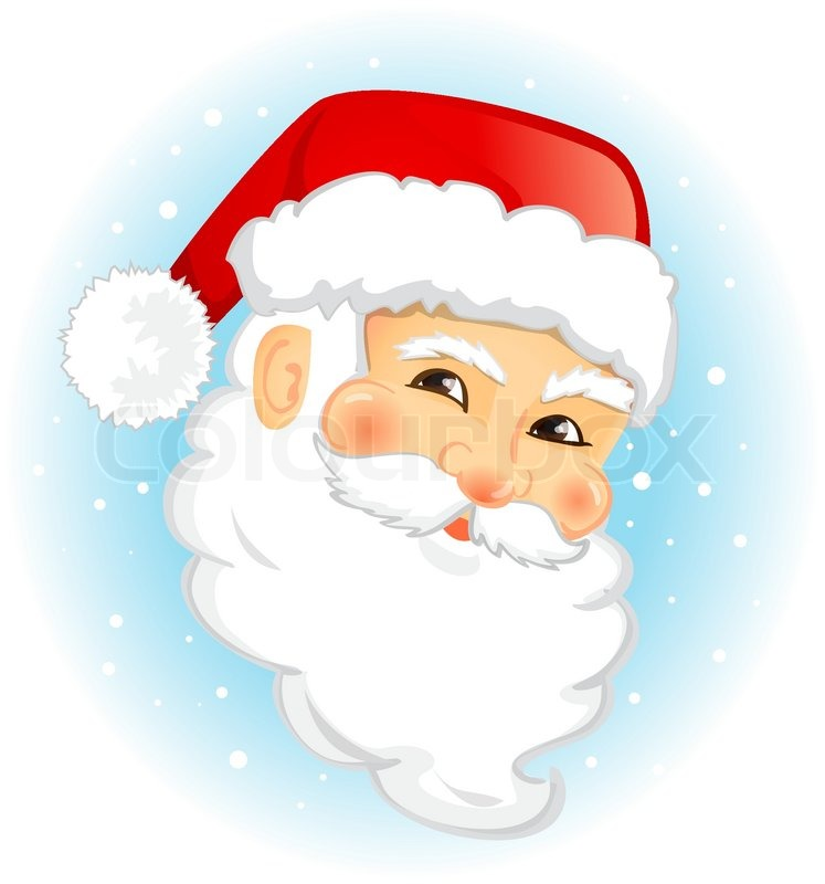 face of santa claus vector illustration isolated - Pictures Santa Claus