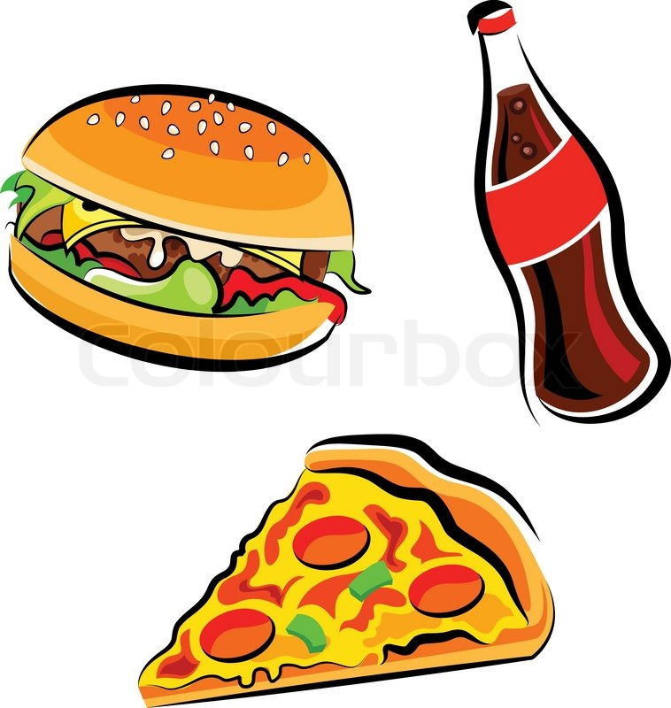 fast food clipart stock vector colourbox rh colourbox com food clipart images free food clip art free images