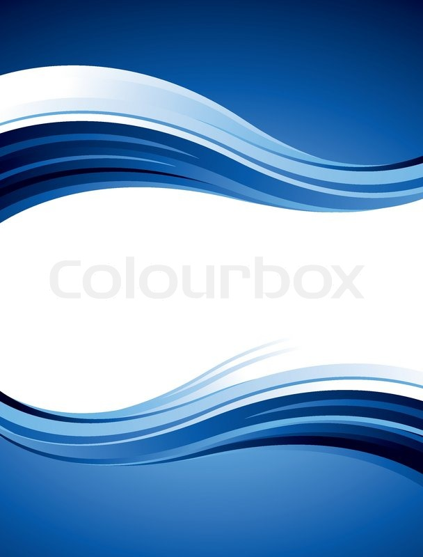 Blue Abstract Vector Design With Waves And Curves Stock
