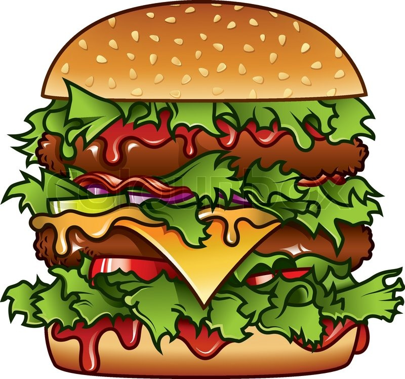 burger illustration stock vector colourbox lunch clip art free small school lunch clipart free