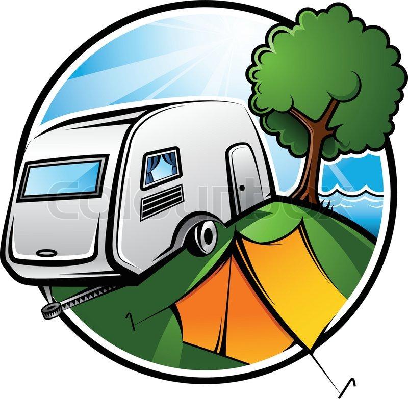 Camping Area | stock vektor | Colourbox