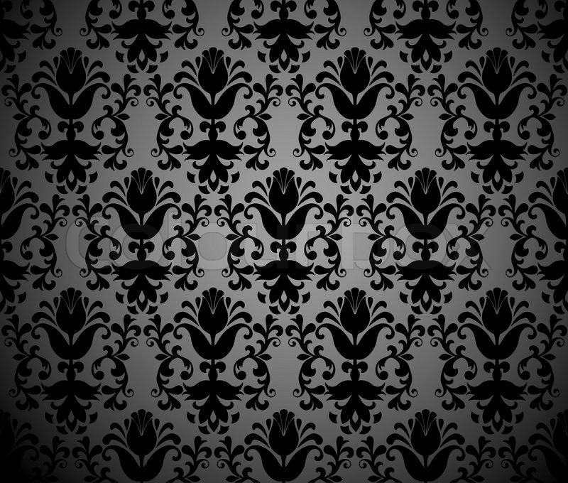 seamless vector vintage black background abstract illustration