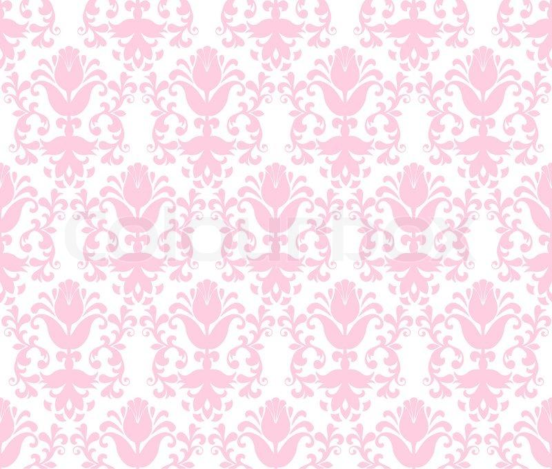 seamless light green floral wallpaper stock vector