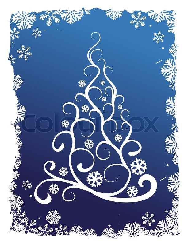 Abstract Christmas Tree Vector Background Illustration