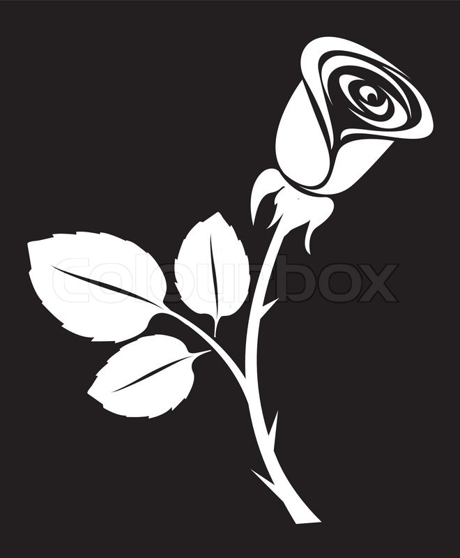 Stock vector of 'Sketch rose art black backdrop vector illustration'