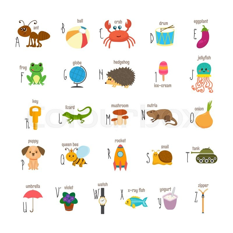 Letter Words From Snail