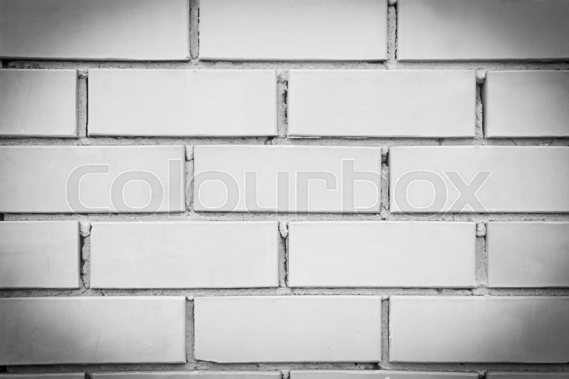 Background of brick wall black and white, stock photo