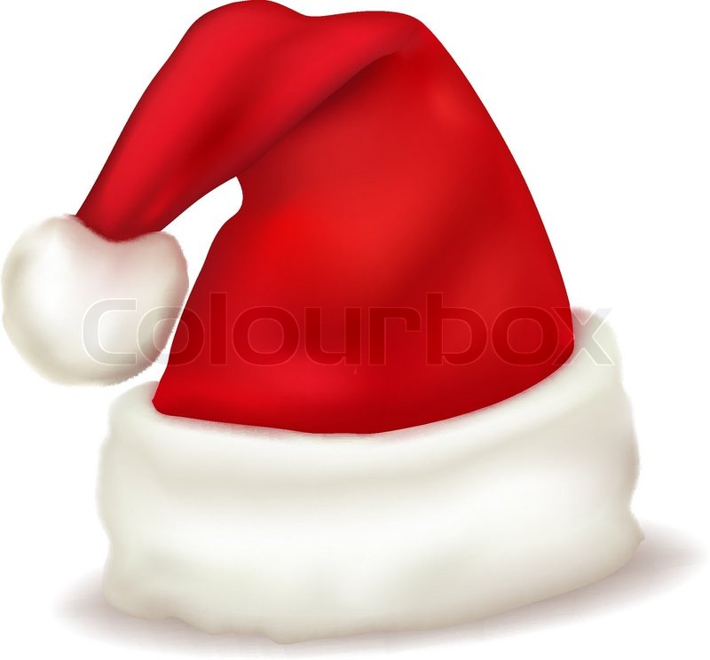 red santa claus hat vector - Santa Claus Red