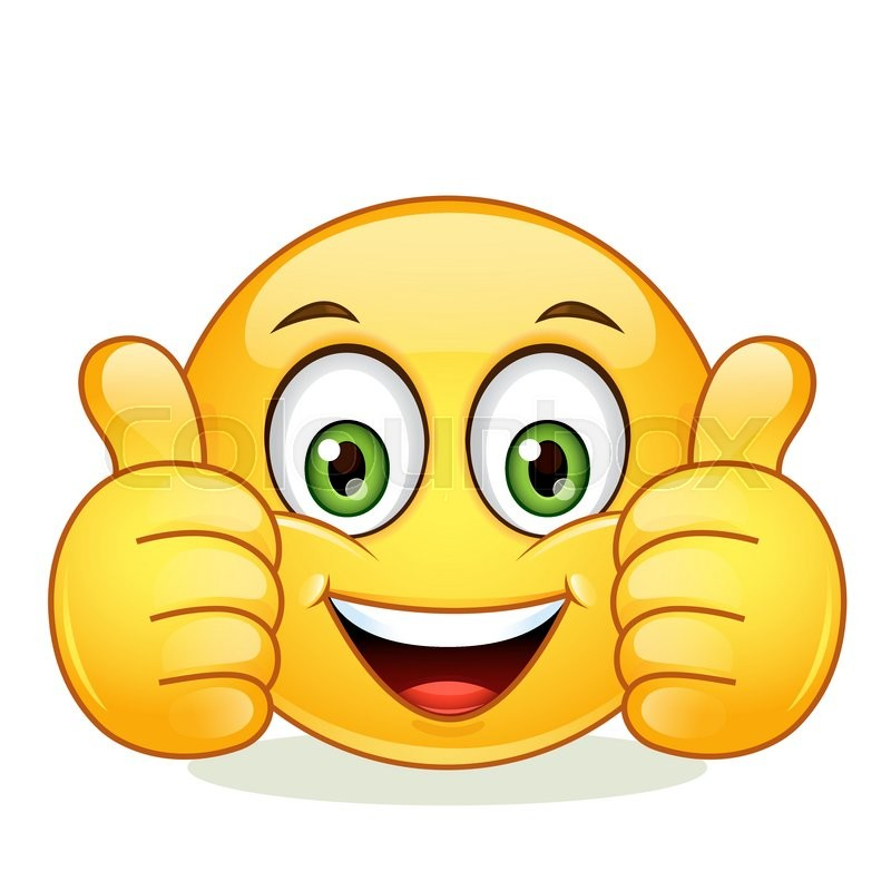 Emoticon showing thumb up. Vector ... | Stock Vector ...