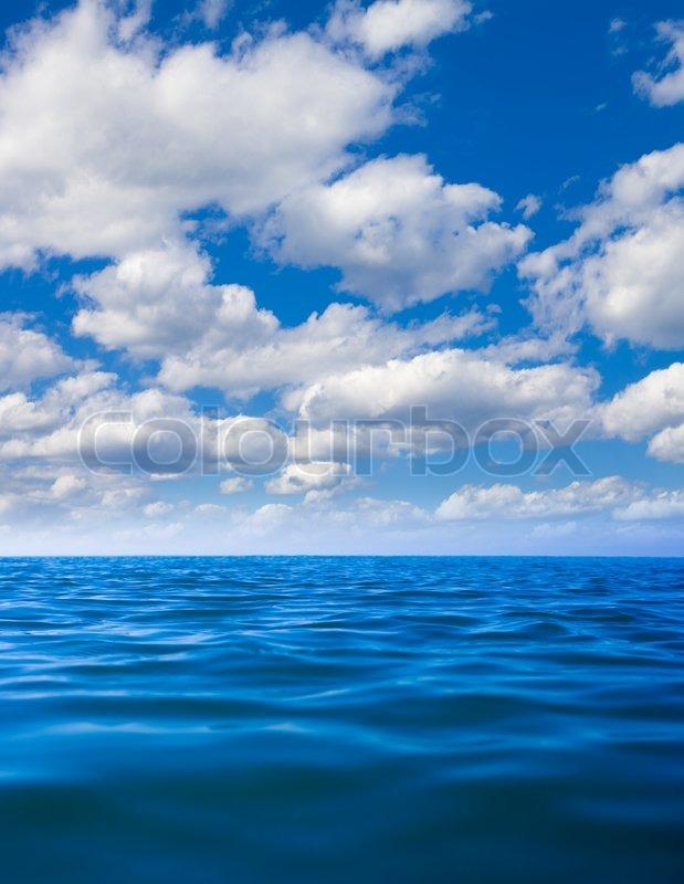 Still Calm Sea Water Surface Stock Photo Colourbox
