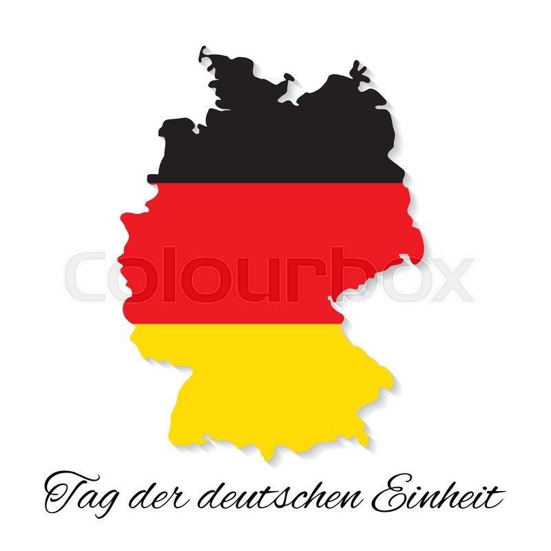 October Germany Independence Day German Map Vector Illustration - German map