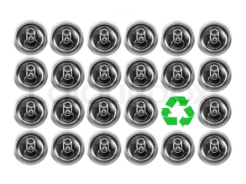 Aluminum Cans Isolated Against A White Background Stock Photo