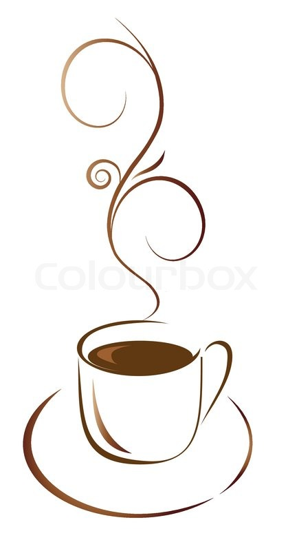 cup of coffee for your favorite. Vector illustration | Stock Vector ...