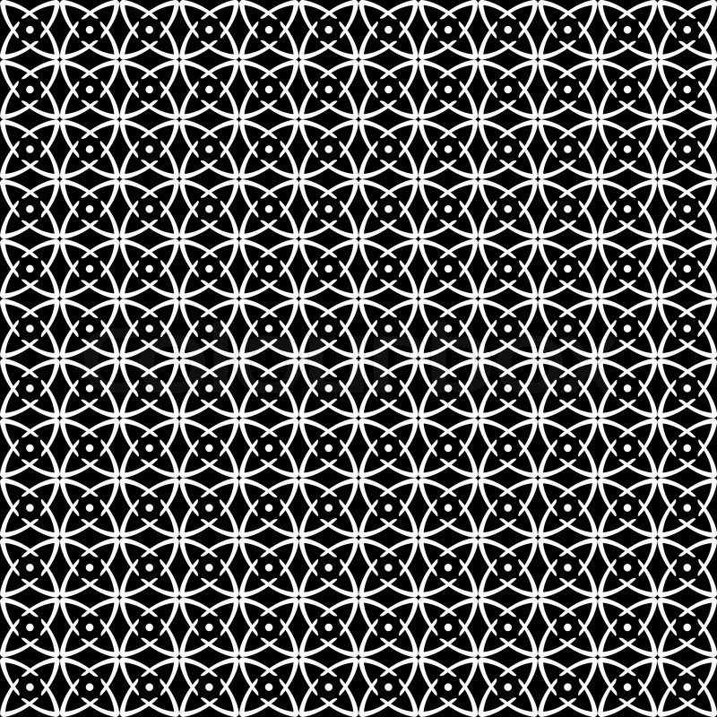 Seamless op art pattern. Black-and-white abstract texture ...