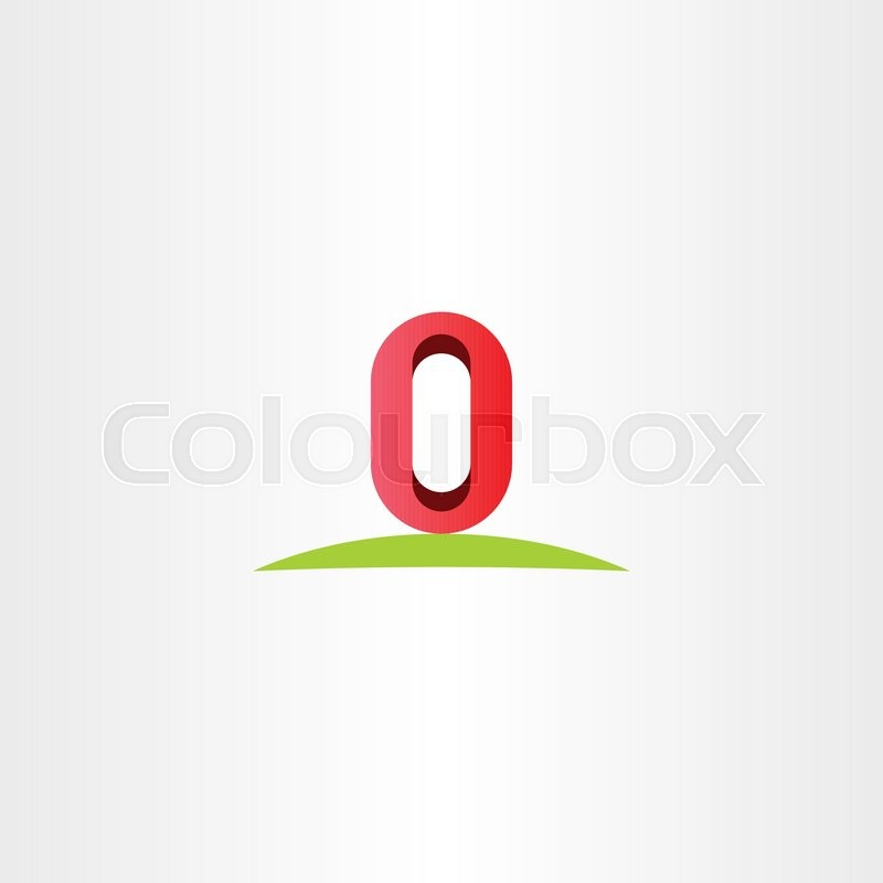 Letter O Zero 0 Number Vector Logo Icon Symbol Element Stock