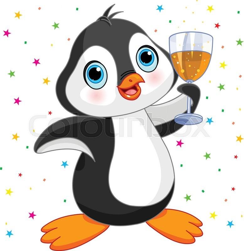 Pinguin Clipart Gluck Vektorgrafik Colourbox
