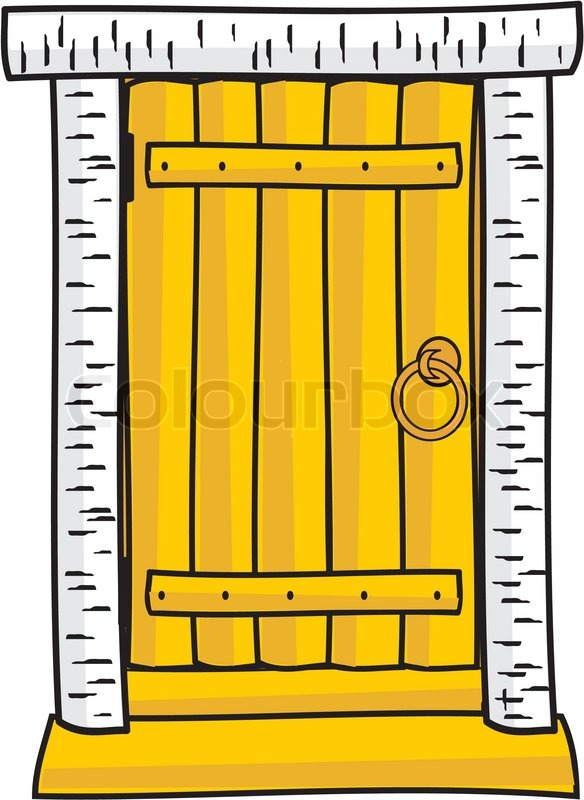 sc 1 st  Colourbox & Wooden door - cartoon style | Stock Vector | Colourbox