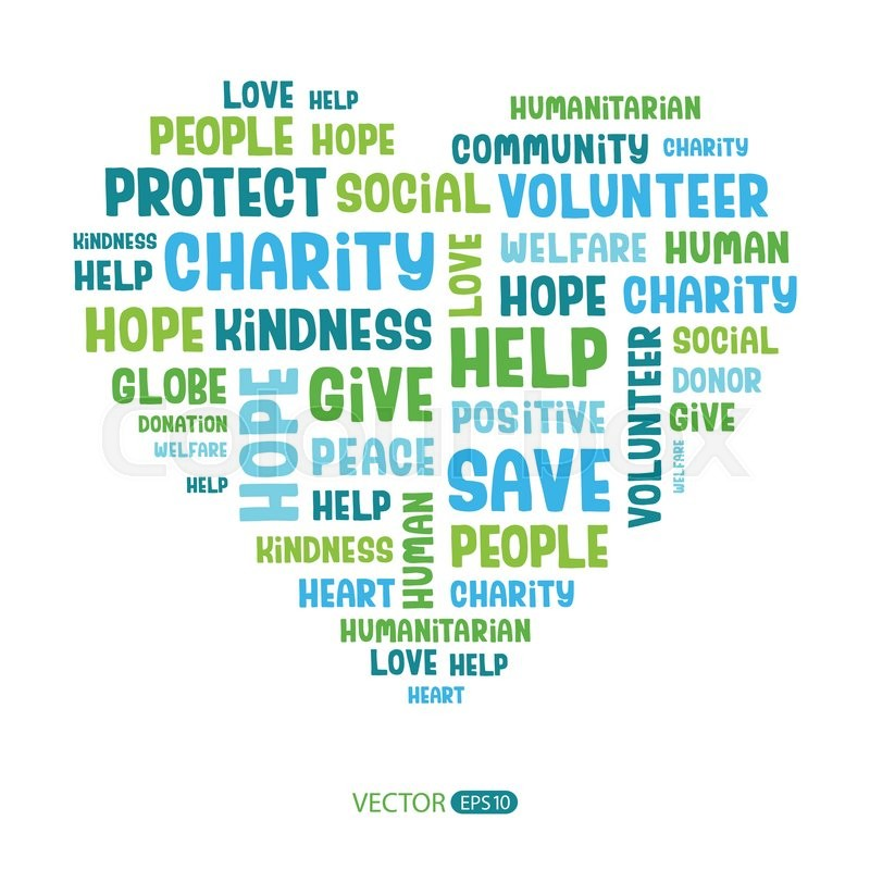 Stock Vector Of Concept Word Cloud Containing Words Related To Charity Love Health