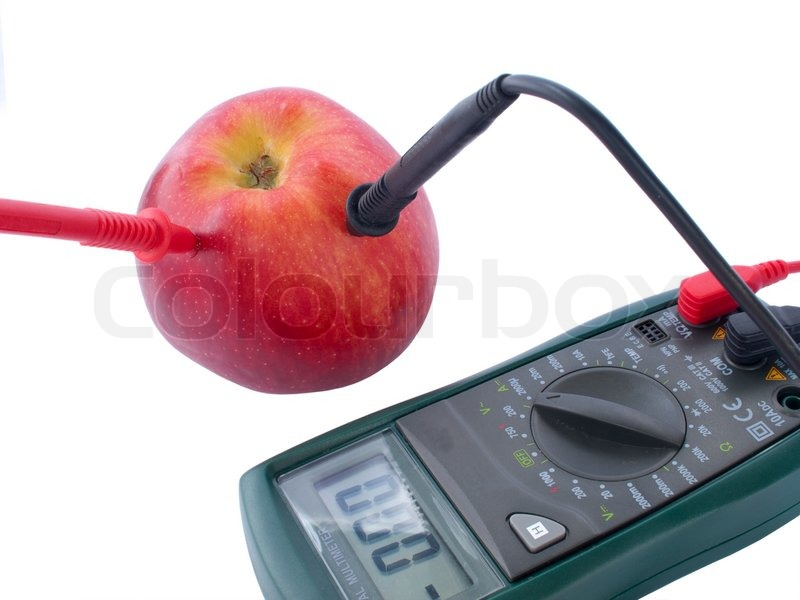 Measuring Electrical Equipments : Digital multimeter electrical measuring stock photo