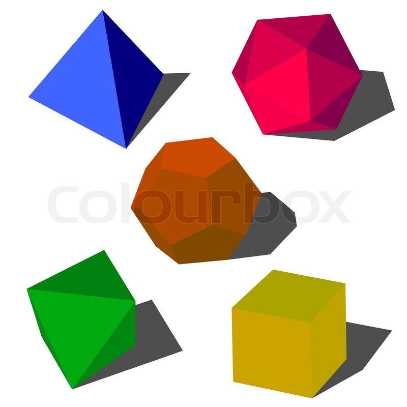 colorfull vektor geometrische 3d formen vektorgrafik colourbox. Black Bedroom Furniture Sets. Home Design Ideas