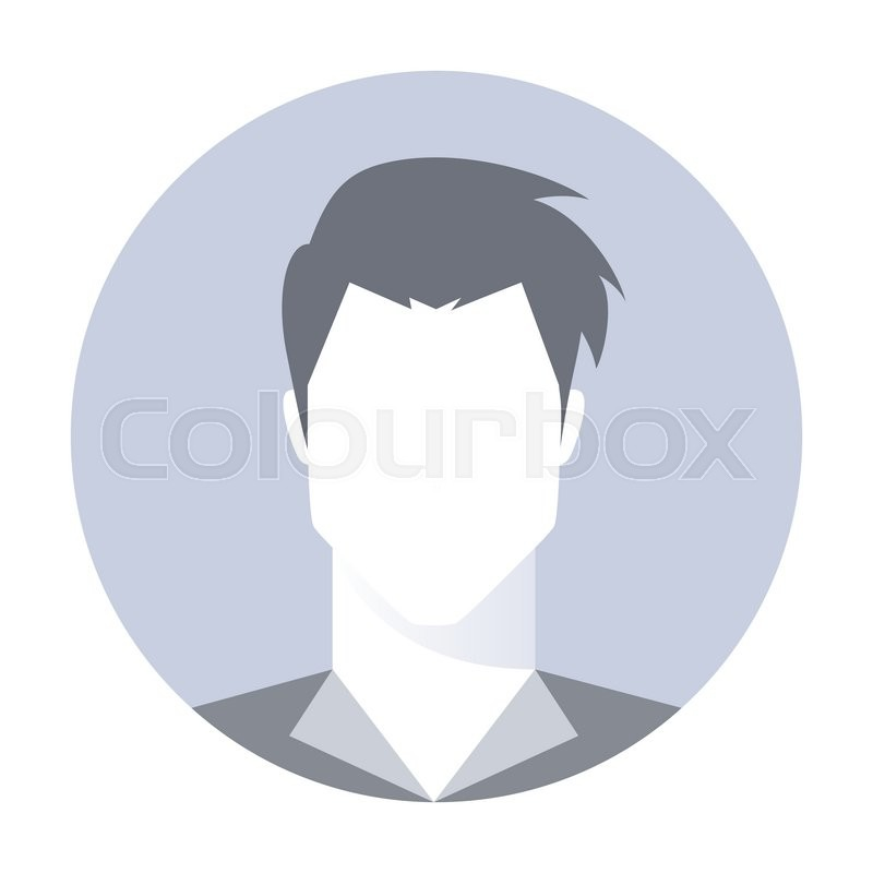 Avatar Logo: Male Avatar Profile Picture. Default User Avatar, Guest