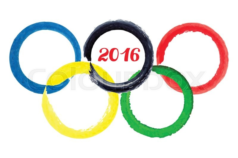 Olympic Games 2016ctor Illustrationwatercolor Brush Painted