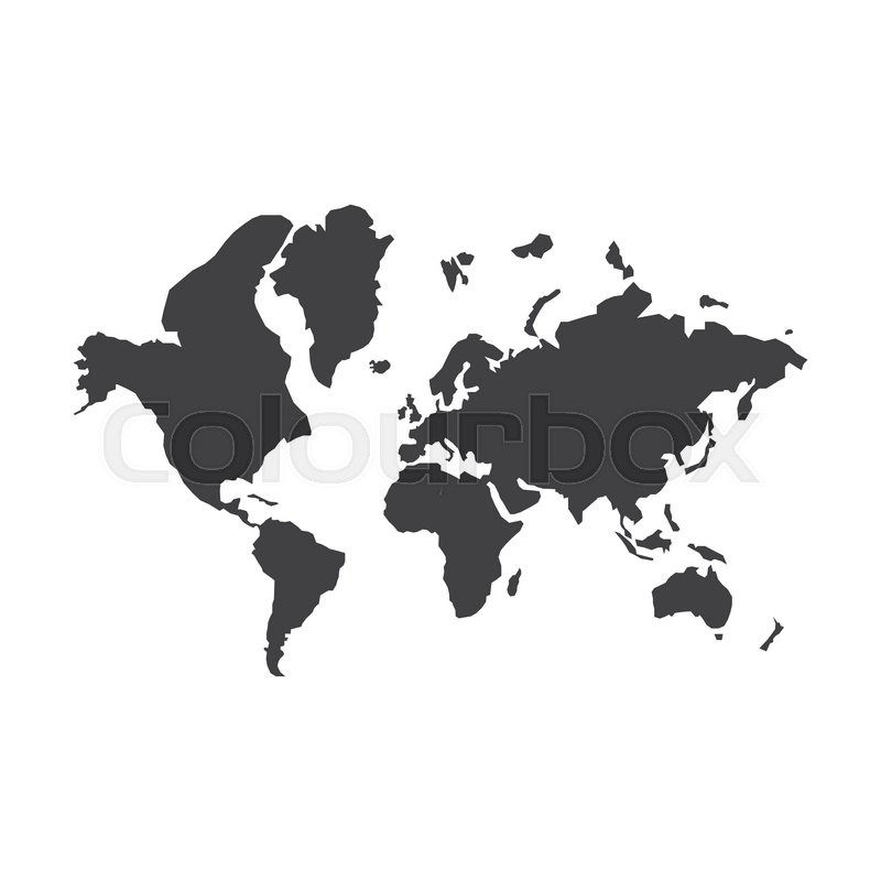 World map silhouette illustration on the white background vector world map silhouette illustration on the white background vector illustration stock vector colourbox gumiabroncs Gallery