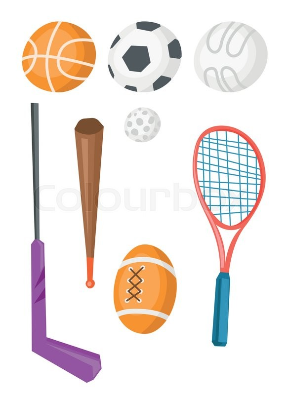 Variety Of Sports Equipment For Stock Vector Colourbox