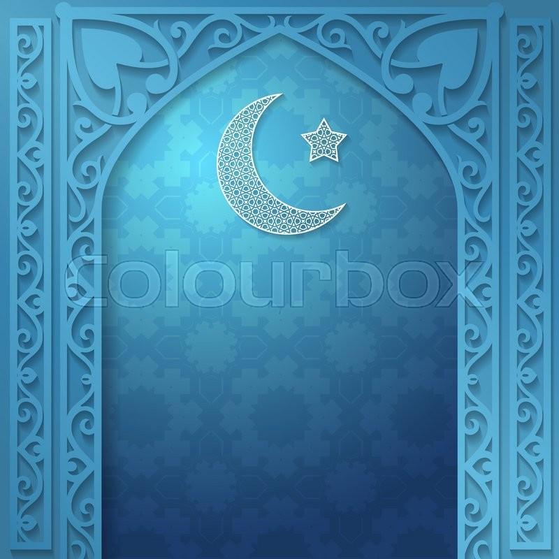 Vector islamic ethnic invitation design or background blue color stock vector of vector islamic ethnic invitation design or background blue color stopboris Choice Image